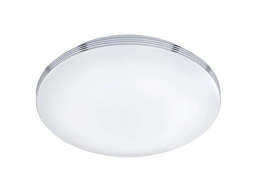 BADEZIMMER-DECKENLEUCHTE - Chromfarben/Weiß, Design, Kunststoff/Metall (41,0/10cm)