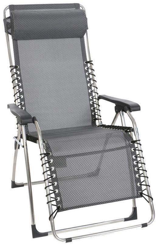 Garten-relaxsessel in - Anthrazit/Silberfarben, KONVENTIONELL, Kunststoff/Textil (71/130/78cm)