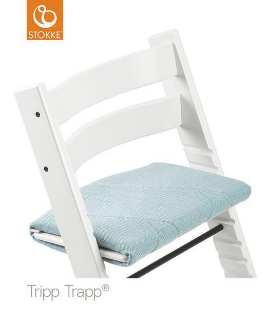 Tripp Trapp Junior Kissen Jade Twill - Türkis, Basics, Textil (42/28/4cm) - Stokke