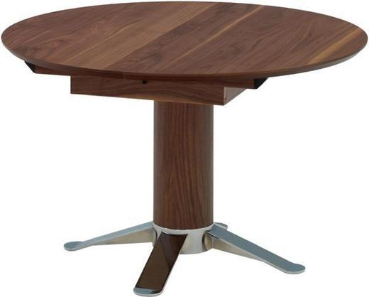 ESSTISCH in Holz, Metall - Nussbaumfarben, Design, Holz/Metall (120(165)/77cm) - Joop!