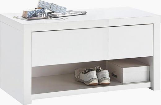GARDEROBENBANK Weiß - Weiß, Design (84,2/44,4/42cm) - Voleo