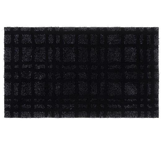 BADEMATTE in Schwarz 60/100 cm - Schwarz, Basics, Kunststoff/Textil (60/100cm) - Ambiente