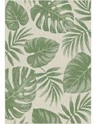 FLACHWEBETEPPICH  60/110 cm  Creme, Grün - Creme/Grün, Textil (60/110cm) - Novel