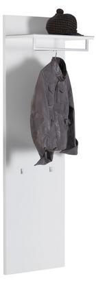 GARDEROBENPANEEL Hochglanz, lackiert Weiß - Weiß, Design, Glas (48/165/32cm) - Voleo