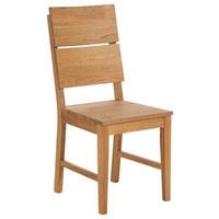 STUHL Wildeiche massiv Eichefarben - Eichefarben, Design, Holz (44/99/49cm) - LINEA NATURA