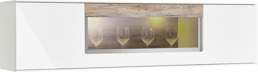HÄNGEELEMENT Eichefarben, Grau, Weiß - Eichefarben/Schwarz, Design, Glas/Kunststoff (160/40/35cm) - Set one by Musterrin