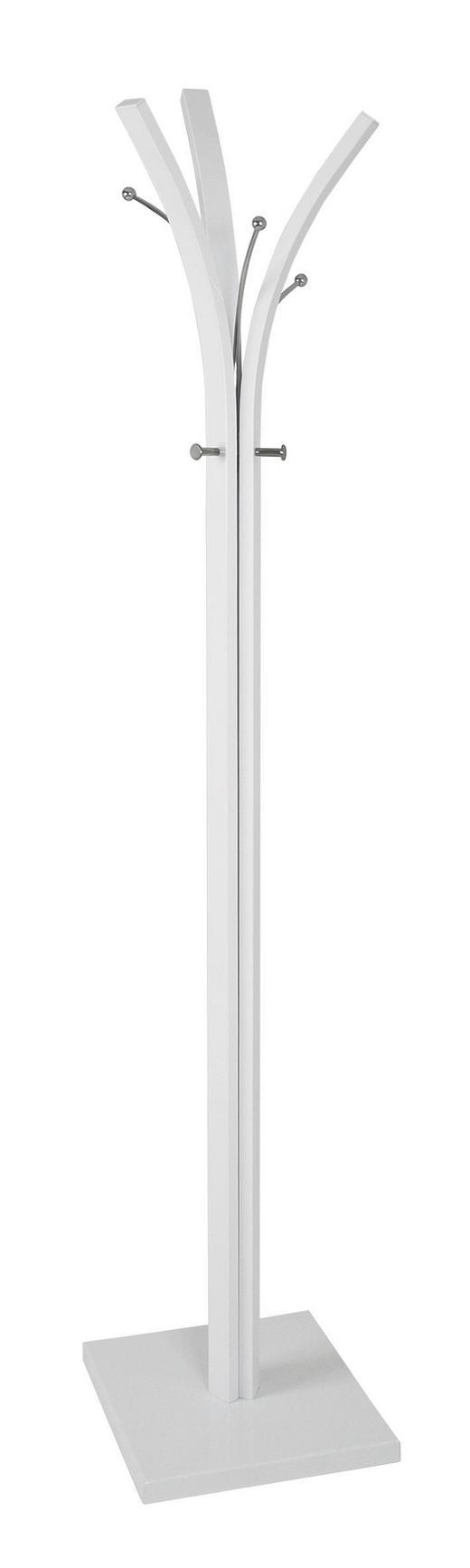 GARDEROBENSTÄNDER Chromfarben, Weiß - Chromfarben/Weiß, Basics, Metall (36/36/180cm)