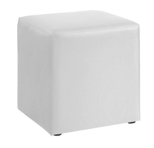 SITZWÜRFEL Lederlook Weiß - Weiß, Design, Textil (40/45/40cm)