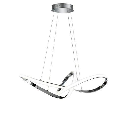 LED-HÄNGELEUCHTE - Chromfarben, Design, Kunststoff/Metall (92/150/35cm)