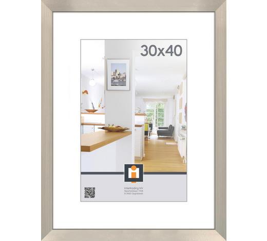 BILDERRAHMEN in Silberfarben - Silberfarben, Basics, Glas/Kunststoff (33/43/1,5cm)