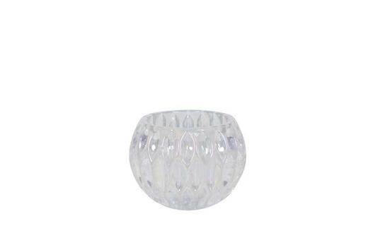 TEELICHTHALTER - Transparent/Silberfarben, Basics, Glas (10,5/8,5cm)