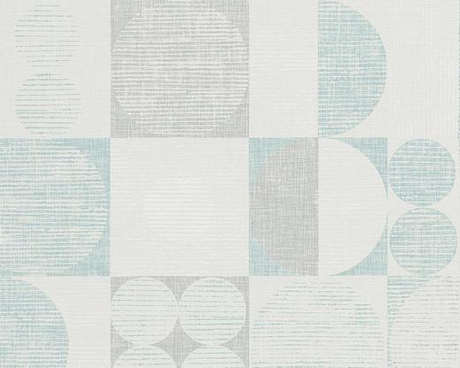 VLIESTAPETE 10,05 m - Türkis/Blau, Basics, Textil (53/1005cm)