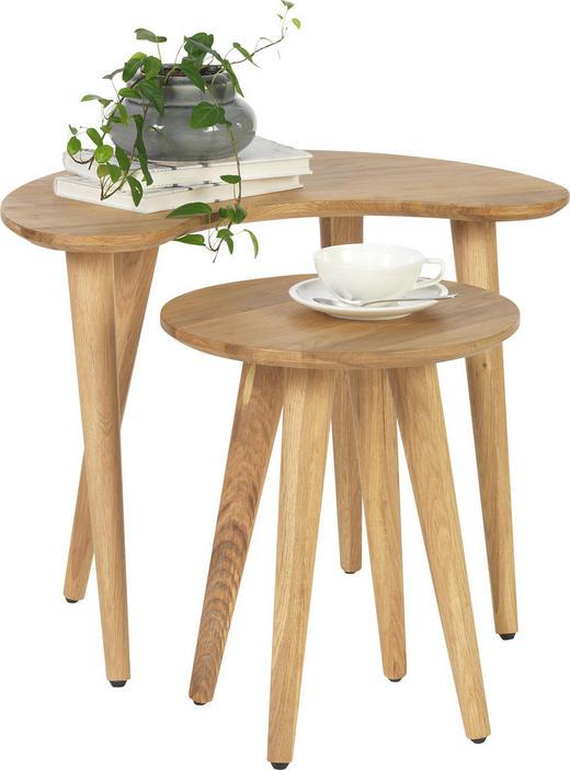 COUCHTISCH Wildeiche massiv Freiform Eichefarben - Eichefarben, Design, Holz (60/35/47,5/41,7/40/35cm) - Linea Natura