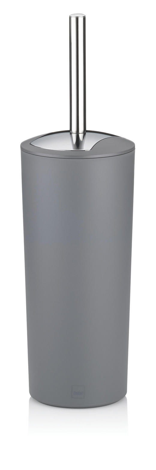 WC-BÜRSTENGARNITUR - Edelstahlfarben/Grau, Basics, Kunststoff (11/36,5cm)