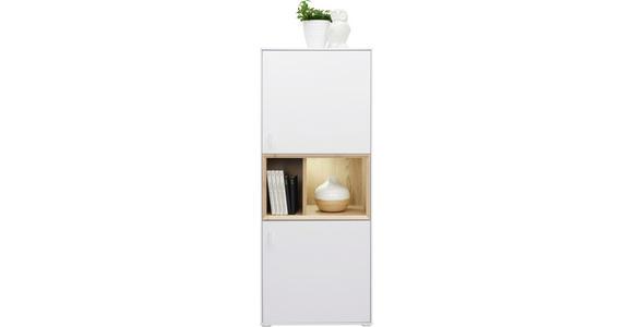 KOMMODE 55/136/40 cm  - Eichefarben/Weiß, Design, Holzwerkstoff/Kunststoff (55/136/40cm) - Hom`in