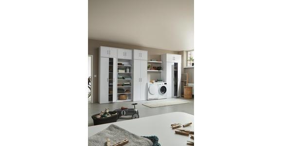 KLEIDERSCHRANK in Weiß  - Silberfarben/Weiß, KONVENTIONELL, Holzwerkstoff/Metall (106/194/54cm) - Xora