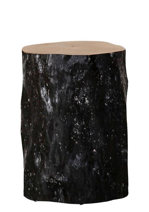 HOCKER Teakholz Schwarz, Teakfarben - Schwarz/Teakfarben, Design, Holz (31-33/46cm) - CARRYHOME