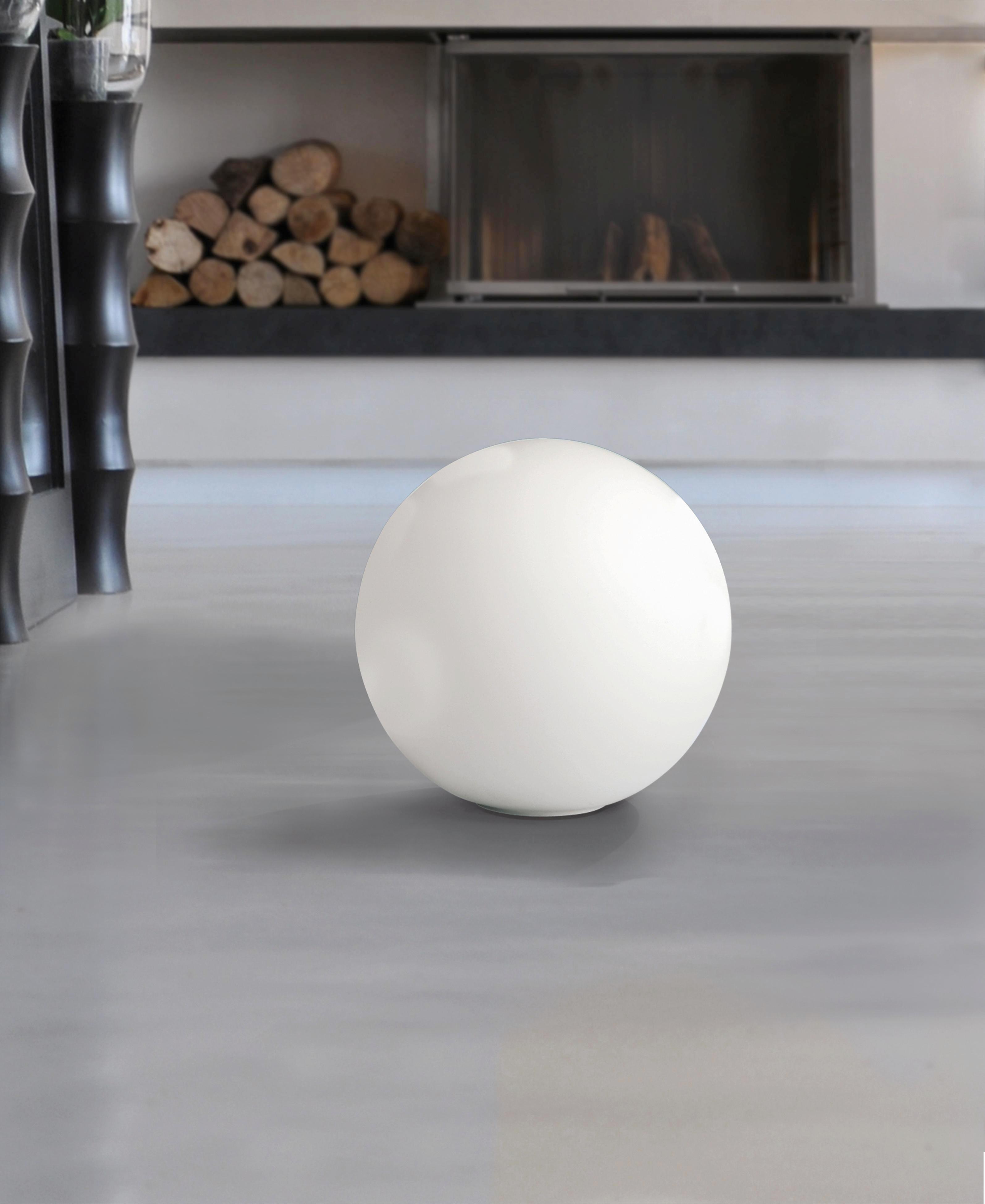 TISCHLEUCHTE - Weiß, LIFESTYLE, Glas/Metall (30cm)