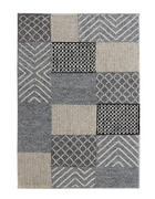 RUČNĚ TKANÝ KOBEREC, 160/230 cm, šedá - šedá, Natur, textil (160/230cm) - Linea Natura
