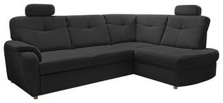 WOHNLANDSCHAFT Anthrazit Mikrofaser - Chromfarben/Anthrazit, KONVENTIONELL, Kunststoff/Textil (260/109/180cm) - Cantus