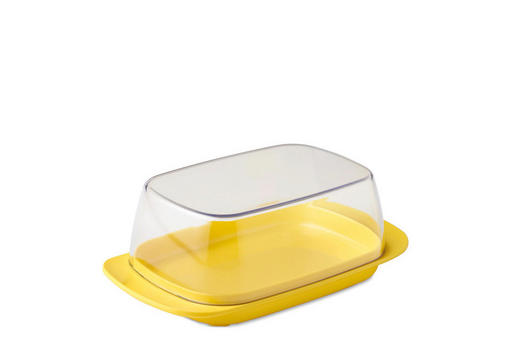 BUTTERDOSE Kunststoff - Gelb, Design, Kunststoff (17/9,8/6cm) - Mepal Rosti