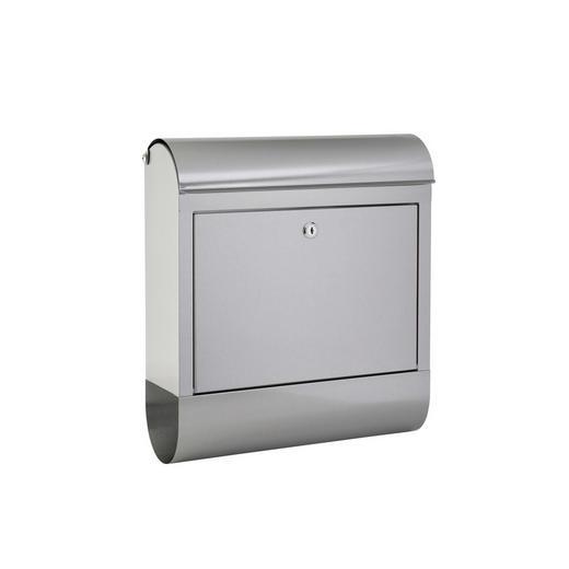 BRIEFKASTEN Silberfarben - Silberfarben, Metall (38/42,5/12cm)