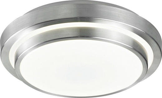 LED-DECKENLEUCHTE - Alufarben/Weiß, Basics, Kunststoff/Metall (40/40/9cm) - Novel