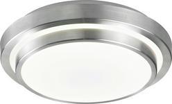 LED-DECKENLEUCHTE - Alufarben/Weiß, Design, Kunststoff/Metall (40/40/9cm) - Novel