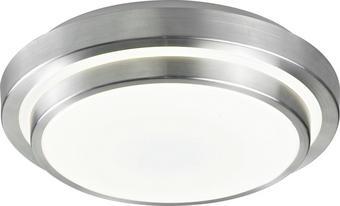 LED-DECKENLEUCHTE - Alufarben/Weiß, MODERN, Kunststoff/Metall (40/40/9cm) - NOVEL