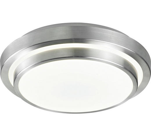 STROPNA LED SVETILKA RINGO - aluminij/bela, Basics, kovina/umetna masa (40/40/9cm) - Novel