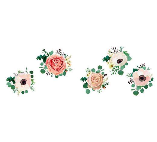 Blumen WANDTATTOO  - Multicolor, Trend, Kunststoff (50/70/0,10cm)