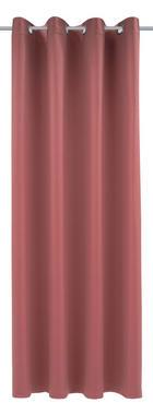 ZAVJESA S RINGOVIMA - svijetlo crvena, Konvencionalno, tekstil (140/245cm) - ESPOSA