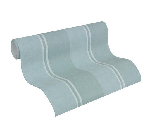 VLIESTAPETE 10,05 m - Blau/Grün, Design, Textil (53/1005cm)
