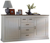 SIDEBOARD Taupe, Pinienfarben  - Taupe/Anthrazit, LIFESTYLE, Holzwerkstoff/Metall (200/105/42cm) - Landscape