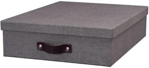 BRIEFABLAGE Karton Grau - Grau, Basics, Karton (35/26/8cm) - BOXXX