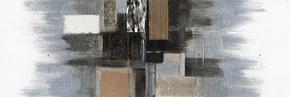 OLJEMÅLNING - multicolor, Basics, trä/textil (55/150cm) - Monee