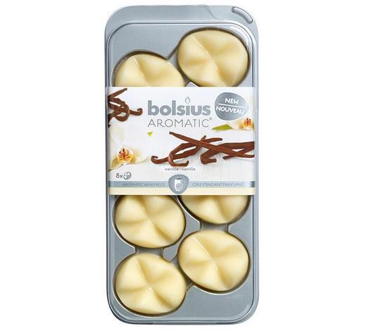 DUFTWACHS Vanille   - Creme, Basics, Naturmaterialien (9,3/19,5/1,7cm) - Bolsius
