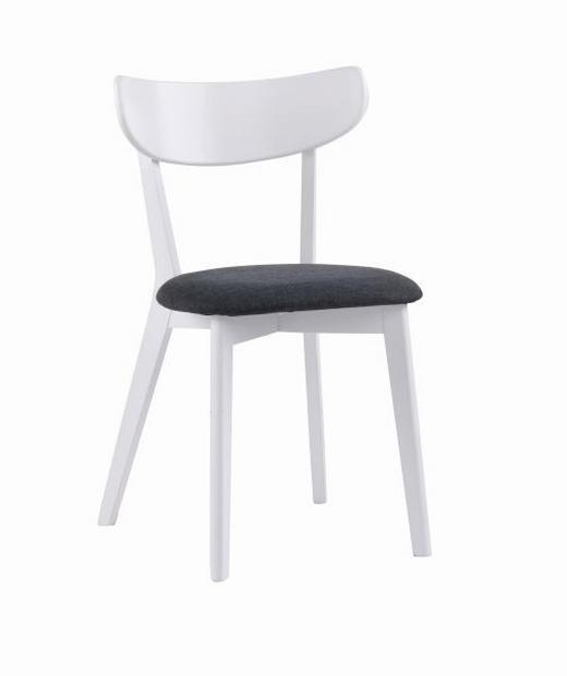 STOL - vit/grå, Design, träbaserade material/textil (48/82/48cm) - ROWICO