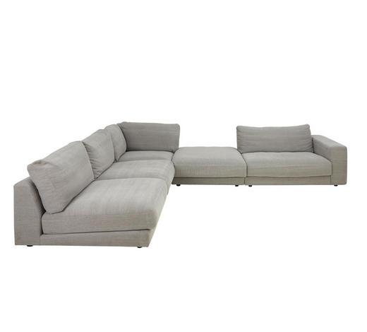 WOHNLANDSCHAFT in Textil Grau - Grau, Design, Textil (365/322cm) - Pure Home Lifestyle