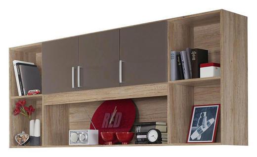 REGAL Eichefarben, Grau - Eichefarben/Silberfarben, Design, Kunststoff (212/93/38cm) - Carryhome