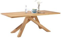 ESSTISCH in massiv Wildeiche Eichefarben - Eichefarben, Design, Holz (200/100/75cm) - Linea Natura