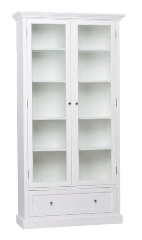 VITRINSKÅP - vit, Klassisk, trä/glas (110/212/38cm) - Rowico