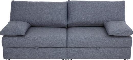 SCHLAFSOFA Blau, Grau - Blau/Chromfarben, Design, Textil/Metall (192/77-88/110-120cm) - Bali