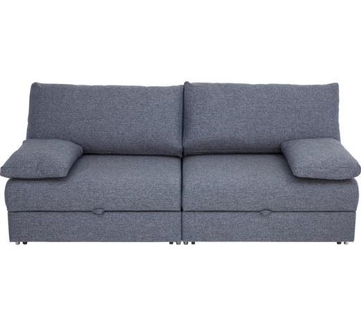 SCHLAFSOFA in Textil Blau, Grau - Chromfarben/Blau, Design, Textil/Metall (192/77-88/110-120cm) - Bali