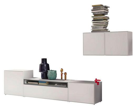 WOHNWAND Grau, Weiß - Weiß/Grau, Design (308/156/44,8cm) - Hülsta - Now