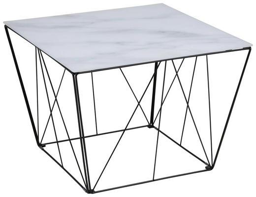 COUCHTISCH in Glas 60/60/43 cm - Schwarz/Weiß, Trend, Glas/Metall (60/60/43cm) - Carryhome