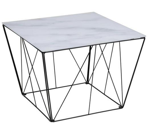 COUCHTISCH rechteckig Schwarz, Weiß  - Schwarz/Weiß, Trend, Glas/Metall (60/60/43cm) - Carryhome