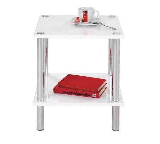 POMOĆNI STOLIĆ - bijela/boje kroma, Design, drvo/metal (39/47/39cm) - Boxxx
