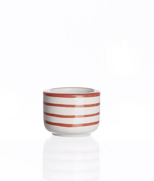 TEELICHTHALTER - Rot/Weiß, Basics, Keramik (5,5/4cm) - Landscape