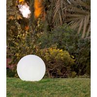 AUßENKUGELLEUCHTE Weiß, Transparent - Transparent/Weiß, Design, Kunststoff (40cm)